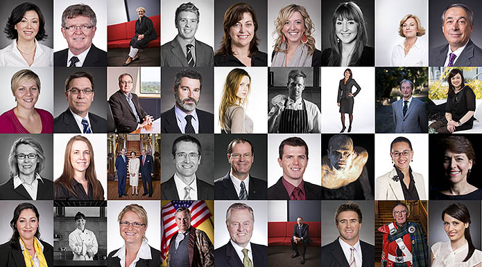 Business portraits headshots grid montage